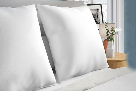 £8.99 instead of £19.99 for one European continental square pillow, £11.99 for two or £19.99 for four from Silent Dreams - save up to 55%
