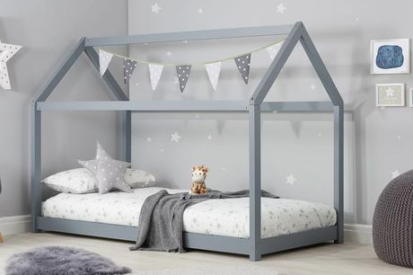 £189 instead of £379.99 for a children's house wooden bed frame, £299 for a bed frame and mattress from FTA Furnishing - save up to 50%