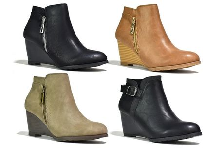 £14 for a pair of women's wedged ankle boots from Shoe Fest!