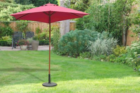 £49 for a 2.5M wooden parasol sun shade from MHStar!