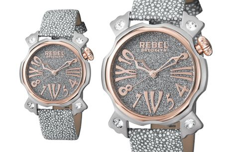 £109 for a Rebel Coney Island ladies silver watch from Rebel Brooklyn!
