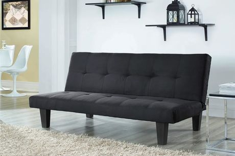 £99.99 instead of £399.99 for an Atlanta three-seater sofa bed in black, grey, teal or charcoal from UK Furniture Zone - save 75%