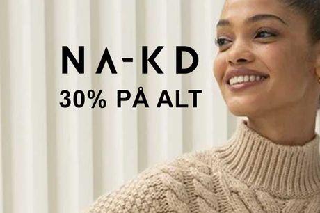 NA-KD fejrer 5 år og giver lige nu 30% på alt hos NA-KD. Brug koden: 5YEARS