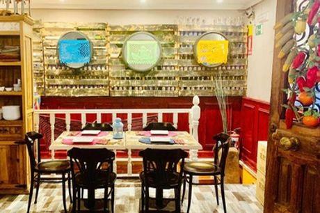 Menú para 2 o 4 personas con entrante, principal, postre y bebida en Mezcalería Alambique Restaurante