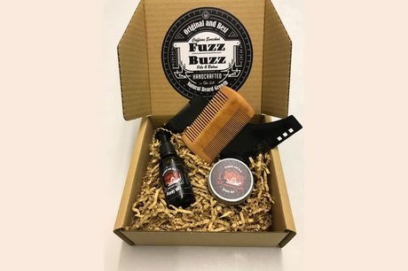 £12.99 instead of £25.99 for a choice of beard oil and balm gift set from Fuzz Buzz - choose from four options and save 50%
