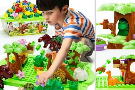 £9.99 instead of £49.99 for a 40-piece kid's assembling building block set from Bear Called Bob - save 80%