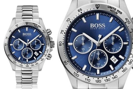 £149 instead of £499.99 for a men's silver and blue Hugo Boss HB1513755 sport lux stainless steel watch from Demand Tic - save 70%