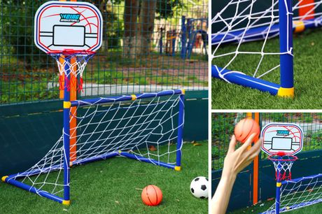 £14.99 instead of £49.99 for a two-in-one football and basketball set from MBLogic - save 70%