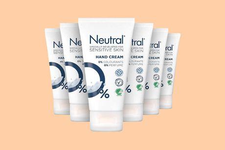 Neutral handcreme 6 tubes Bevat 0% parfum, kleurstof en parabenen<br /> Ook geschikt voor een gevoelige huid<br /> Geschikt voor alle huidtypes en leeftijden