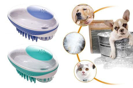 £7.99 instead of £29.99 for a bath brush for pets from Wishwhooshoffers – save 73%