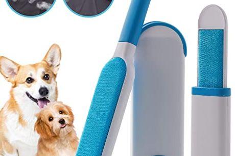 Børste til fjernelse af fnug og hår - sæt med børste og en selvrensende beholder. Vi kender alle til problemet, med hår og fnug fra vores skønne kæledyr, og den enorme tid vi bruger på rengøringen Her har vi løsningen, nemlig den perfekte børste til fjern