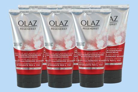 6x Olaz huidperfectionerende reiniger Met een inhoud van 150 ml<br /> Geheel parfumvrij<br /> Helpt huidcellen vernieuwen