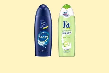 12 flessen FA douchegel Keuze uit Sport of Yoghurt Aloe Vera<br /> Heerlijke frisse geuren<br /> 12x 250 ml