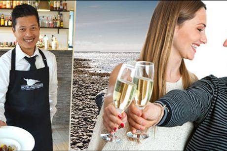 Gourmetophold ved Vadehavet.. - Gourmetoplevelse for 2 med 1 overnatning i de luxe værelse, morgenmad med morgenbitter, 5 retters gourmetmenu med vinmenu samt kaffe og likør. Værdi kr. 3135,-