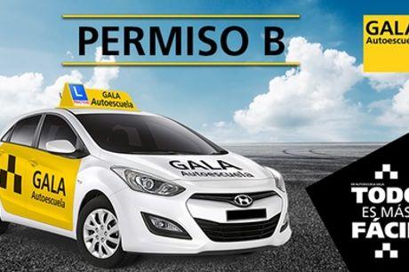 Curso para obtener el carné tipo B con 4 o 6 prácticas en Autoescuela Gala (hasta 86% de descuento)