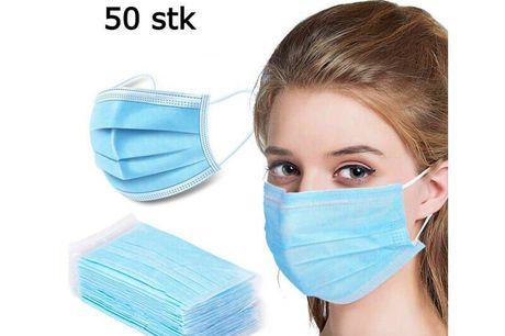 Mundbind Type 2 R. 3 lags. Mundbind Type 2R Kirurgiske - CE Certificeret - 50stk. • Produkttype: Engangsbrug • Størrelse: 95 x 175 mm (+/- 5mm) • Ikke steril • 3 lags filtrering • Latexfri • Filter uden glas fibre • Høj filtreringskapacitet