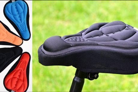 Smart og billigt tilbehør til cyklen.. - Sid blødt og komfortabelt - 1 stk. 3D cykel sadel cover fra The 99 Inspirations, fås i flere farver. Værdi kr. 199,-
