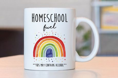 £4.99 instead of £17.99 for your choice of a home schooling mug for mums from Deco Matters – choose from 12 fun designs and save 72%