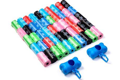 FEDEC Hondenpoepzakjes - 1000 stuks - 50 rollen - Met 2 Dispensers - Multikleur