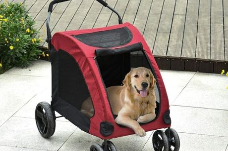 From £99 for Spacious Dog Stroller - 3 Colours! from Mhstar Uk Ltd - save up to 38%