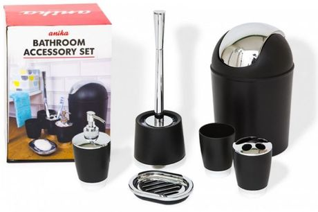 £11.99 instead of £30.99 for a 6pc Luxurious Bathroom Accessory Set - 2  Colours! from Avant-Garde Brands Ltd - save 61%
