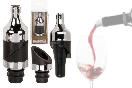 £6.99 instead of £19.99 for a 2 in 1 Wine Bottle Topper and Pourer from London Exchain Store - save 65%