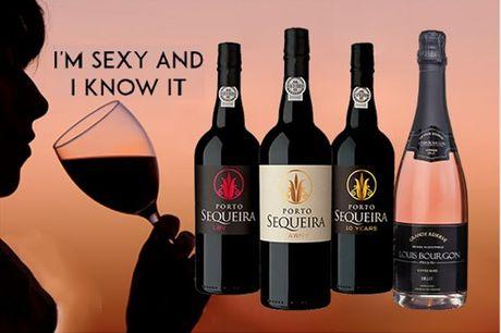 """Para mulheres que sabem o que querem. Para celebrar a atitude feminina intensa, este pack dedicado à mulher leva até si um conjunto de vinhos fortes licorosos da Quinta da Sequeira. Pack """"I'm sexy and I know it"""" por apenas 47,90€"""