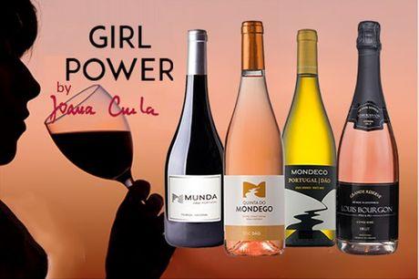 Celebre o poder da mulher com este pack composto por 3 vinhos da enóloga Joana Cunha e um Espumante Premium Francês Louis Bourgon Rosé. Presentei a(s) mulher(es) da sua vida! Apenas 39,17€