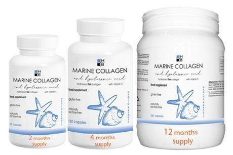 Suplemento de colágeno y ácido hialurónico para 2, 4 o 12 meses