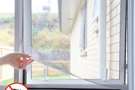Anti myg net til vinduet. Det er et meget praktisk og effektivtpæntmyggenet, der fungerer som en barriere for at forhindre at flyvende insekter (fluer, myg, bier, osv.) i at komme ind Det giver også mulighed for at luften kan cirkulere frit.  Specifikat