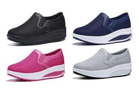£14.99 for a pair of lightweight breathable shaper trainers from Domo Secret - choose from UK shoe sizes 3-8!