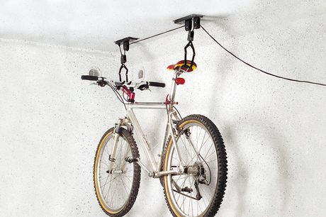 Plafond fiets lift Ideaal ruimtebesparend opbergsysteem<br /> Eenvoudige en snelle plafondmontage<br /> Draaglast van 20 kg