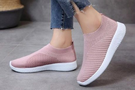 £12.99 for a pair of breathable knitted trainers from DomoSecret - choose from four colours!