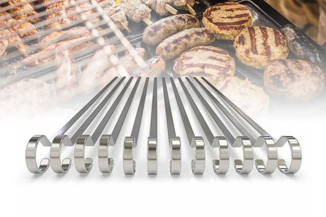 £7.99 instead of £24.99 for a pack of 12 flat stainless steel BBQ skewers from Ramstores - save 68%