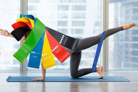 £6.99 instead of £23.50 for a set of five resistance bands from Fantasy Supply - save 70%