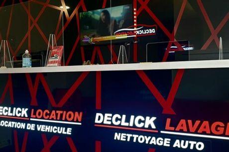 Lavage auto intérieur ou intérieur et extérieur pour citadine, compact et berline avec Declick Lavage