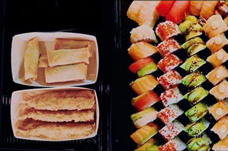 Super pris på sushi takeaway i Kbh K! - Nem aftensmad - nyd en dejlig takeaway menu fra HuFu Sushi med forret og 48 stk. sushi. Værdi kr. 529,-