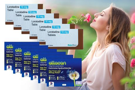 £4.99 instead of £28.50 for a six-month* supply of Cetirizine or Loratadine hayfever and allergy tablets from Pharmacy First - save 82%