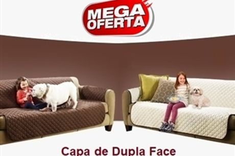 MEGA OFERTA: Capa de Dupla Face para Sofá ou Poltrona (Castanho e Bege) desde 13€. Ideal para quem tem Crianças e ou Animais. ENVIO IMEDIATO. PORTES INCLUÍDOS.