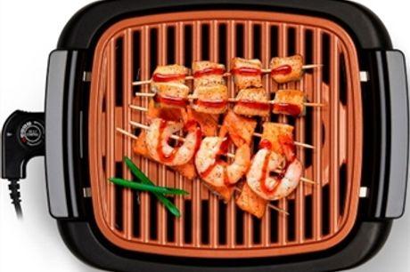 Grelhador Elétrico Grill com Redução do Fumo e Regulador de Temperatura por 37€. PORTES INCLUIDOS.