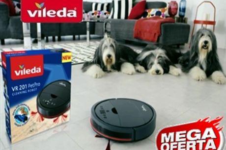 MEGA OFERTA: Robot Aspirador VR201 PetPro da VILEDA com Carregador Automático por 188€. VER VIDEO. PORTES INCLUIDOS.
