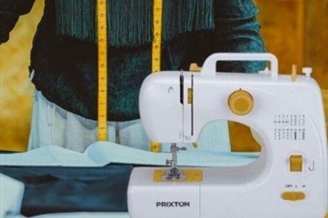Máquina de Costura Portátil de 16 Pontos com Velocidade Dupla, Pedal e Gaveta para Armazenamento por 70€. Aperfeiçoe os seus Dotes! PORTES INCLUÍDOS.