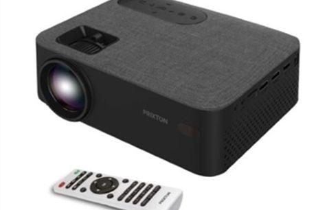 PROJETOR PORTÁTIL LED FULL HD com USB, HDMI, MicroSD, 2 Colunas e Comando por 108€. Reproduza de todos os seus Equipamentos. PORTES INCLUÍDOS!