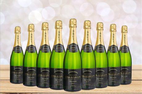 Receba em sua casa um pack com 9 ou 12 garrafas Louis Bourgon Grande Reserve Brut Branco ou Rosé e desfrute na companhia da sua cara-metade, família ou amigos. A partir de 79,9€