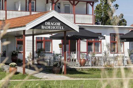 Bo på et charmerende badehotel og nyd en mulighedsrig ferie i Dragør. 3 dage inkl. - 2 overnatninger - 2 x morgenmad - 2 x 2-retters menu - Gratis parkering - Gratis internet