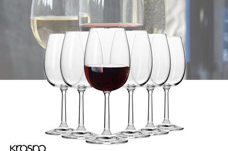 Krosno Pure Collection Rode Wijnglazen - Set van 6 - 350ml