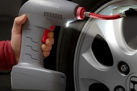 Compressor de Ar Portátil com Cabo por 38€. Ideal para encher e medir a pressão de ar dos pneus de veículos e objetos insufláveis. VER VIDEO. PORTES INCLUIDOS.