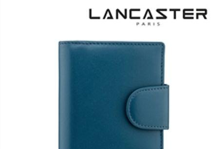Porta Cartões Pele Lancaster Paris® Azul | PLP007 por 33.66€ PORTES INCLUÍDOS