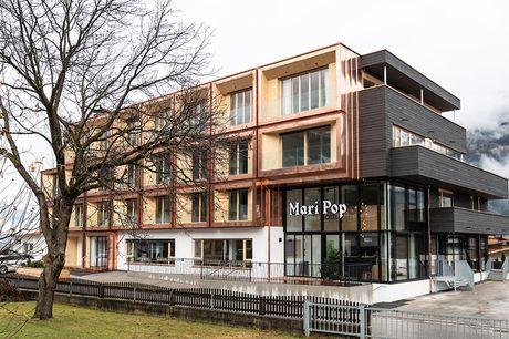 All inclusive: 6 dgn Zillertal Een vakantie bij Mari Pop Boutique Hotel heeft alles: spa- en wellnesscentrum, uniek uitzicht en ligt in het hart van het skigebied Zillertaler Alpen o.b.v. All Inclusive!