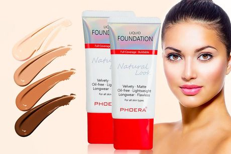 £6.99 instead of £31.98 for two Phoera velvety matte liquid foundations from Forever Cosmetics - save 78%